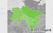 Political Shades Map of Niedersachsen, desaturated