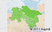 Political Shades Map of Niedersachsen, lighten