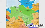 Political Shades Map of Niedersachsen