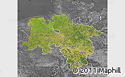 Satellite Map of Niedersachsen, desaturated