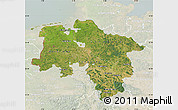 Satellite Map of Niedersachsen, lighten