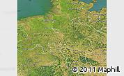 Satellite Map of Niedersachsen