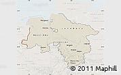 Shaded Relief Map of Niedersachsen, lighten