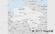 Silver Style Map of Niedersachsen