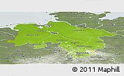 Physical Panoramic Map of Niedersachsen, semi-desaturated