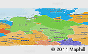 Political Shades Panoramic Map of Niedersachsen