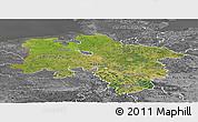 Satellite Panoramic Map of Niedersachsen, desaturated