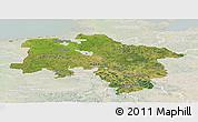 Satellite Panoramic Map of Niedersachsen, lighten