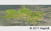 Satellite Panoramic Map of Niedersachsen, semi-desaturated