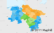 Political Simple Map of Niedersachsen, single color outside
