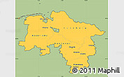 Savanna Style Simple Map of Niedersachsen, cropped outside