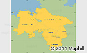 Savanna Style Simple Map of Niedersachsen, single color outside