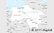 Silver Style Simple Map of Niedersachsen