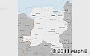 Gray 3D Map of Weser-Ems