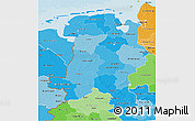 Political Shades 3D Map of Weser-Ems