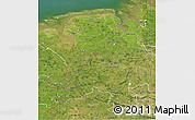 Satellite 3D Map of Weser-Ems
