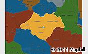 Political Map of Ammerland, darken
