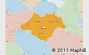 Political Map of Ammerland, lighten