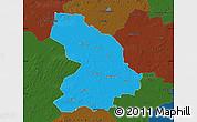 Political Map of Cloppenburg, darken