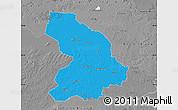 Political Map of Cloppenburg, desaturated