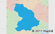 Political Map of Cloppenburg, lighten