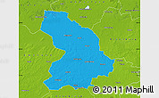 Political Map of Cloppenburg, physical outside