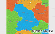 Political Map of Cloppenburg