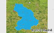 Political Map of Cloppenburg, satellite outside