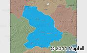 Political Map of Cloppenburg, semi-desaturated