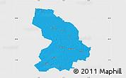 Political Map of Cloppenburg, single color outside