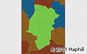 Political Map of Emsland, darken