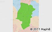 Political Map of Emsland, lighten