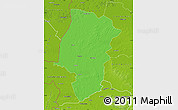 Political Map of Emsland, physical outside