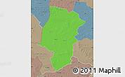 Political Map of Emsland, semi-desaturated