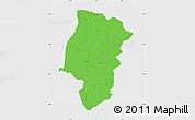 Political Map of Emsland, single color outside
