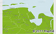 Physical 3D Map of Friesland