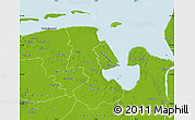 Physical Map of Friesland