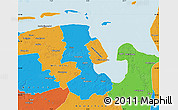 Political Map of Friesland