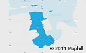 Political Map of Friesland, single color outside