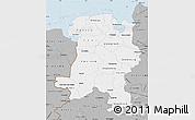 Gray Map of Weser-Ems