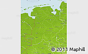 Physical Map of Weser-Ems