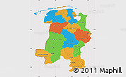 Political Map of Weser-Ems, cropped outside