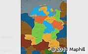 Political Map of Weser-Ems, darken