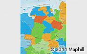Political Map of Weser-Ems, political shades outside
