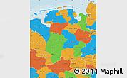 Political Map of Weser-Ems