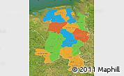 Political Map of Weser-Ems, satellite outside