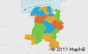 Political Map of Weser-Ems, single color outside