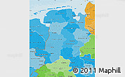 Political Shades Map of Weser-Ems