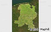 Satellite Map of Weser-Ems, darken