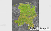 Satellite Map of Weser-Ems, desaturated